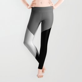 Black and White Angles Leggings