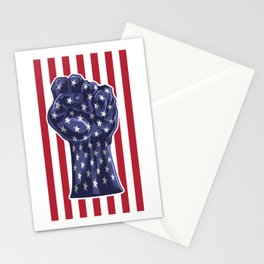 American Fist Flag Stars and Stripes Stationery Cards