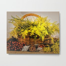 Golden Wattle Metal Print