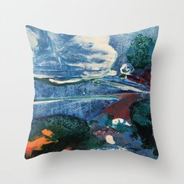 Mini World Environmental Blues 2 Throw Pillow