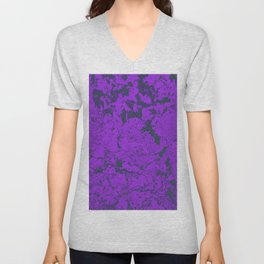 Purple Techno Rock Rave Aesthetic Computer Texture Unisex V-Neck