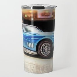 Vintage 1969 Ocean blue 427 Stingray Vette Big Block Travel Mug