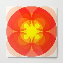 Arvernus - Colorful Abstract Art Orange Flower Metal Print