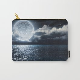 Full Moon over Ocean Carry-All Pouch