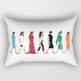 Royal Style Figures Rectangular Pillow