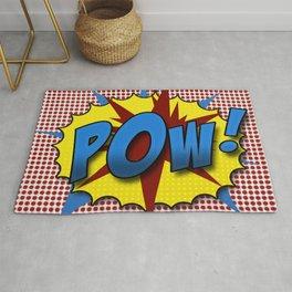 Pop Art Pow in comic Lichtenstein style Rug