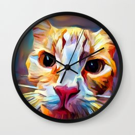 Cat 9 Wall Clock