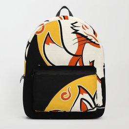 Japanese Kami Inari Fox Kitsune Shrine Mask Backpack