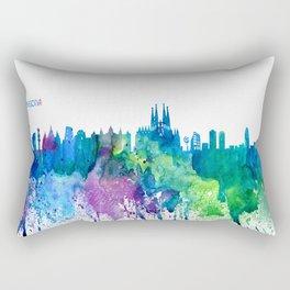 Skyline BARCELONA Colorful Silhouette Rectangular Pillow