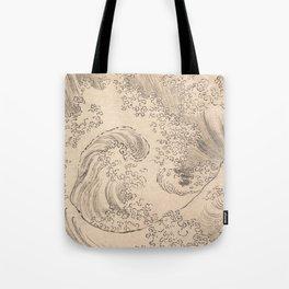 Wave by Katsushika Hokusai 1760–1849, Japanese Tote Bag