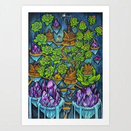 Crystal Treehouse Art Print
