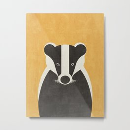 FAUNA / Badger Metal Print