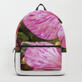 Variagated Begonia Pink Petals Backpack