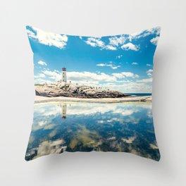 Lighthouse Day Throw Pillow