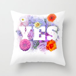 Yes Let's Marry - Amazing Yes Design Throw Pillow