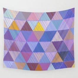 Meditative Lines on Purple #Geometric #Patterns Wall Tapestry