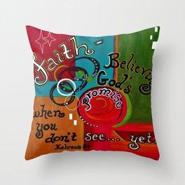Hebrews 11 Faith Throw Pillow