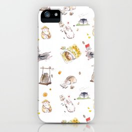 Lazy Hamster iPhone Case