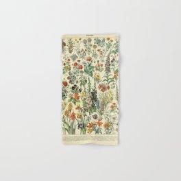 Adolphe Millot Vintage Fleurs Flower 1909 Hand & Bath Towel