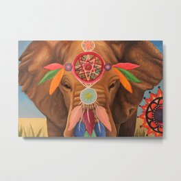 Elephant Dream Catcher Metal Print