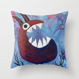 Scream #Funny creature Series Throw Pillow