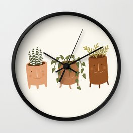 Little Face Vases Wall Clock