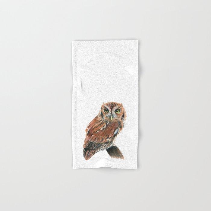 Screech Owl Hand & Bath Towel