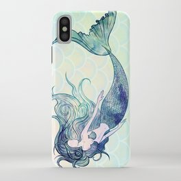 Watercolor Mermaid iPhone Case