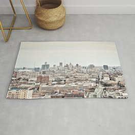 Downtown Detroit Skyline View from New Center Rug