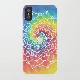 RAINBOW TIE DYE MANDALA iPhone Case