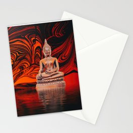 Buddha on a Lake of Fire and Water Stationery Cards