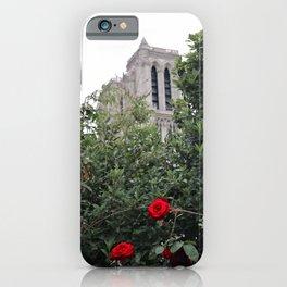 Notre Dame et la rose iPhone Case