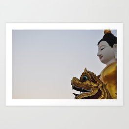 Buddha and Dragon  (Travel & Thailand) Art Print