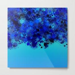 paint splatter on gradient pattern bl Metal Print