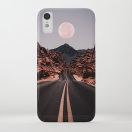 Road Red Moon iPhone Case