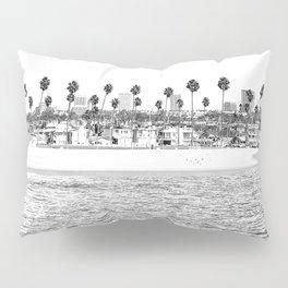 Vintage Newport Beach Print {4 of 4}   Photography Ocean Palm Trees B&W Tropical Summer Sky Pillow Sham