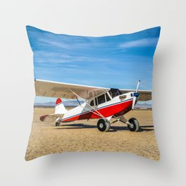 The Soyuz TMA-14M spacecraft as it lands with Expedition 42 Throw Pillow