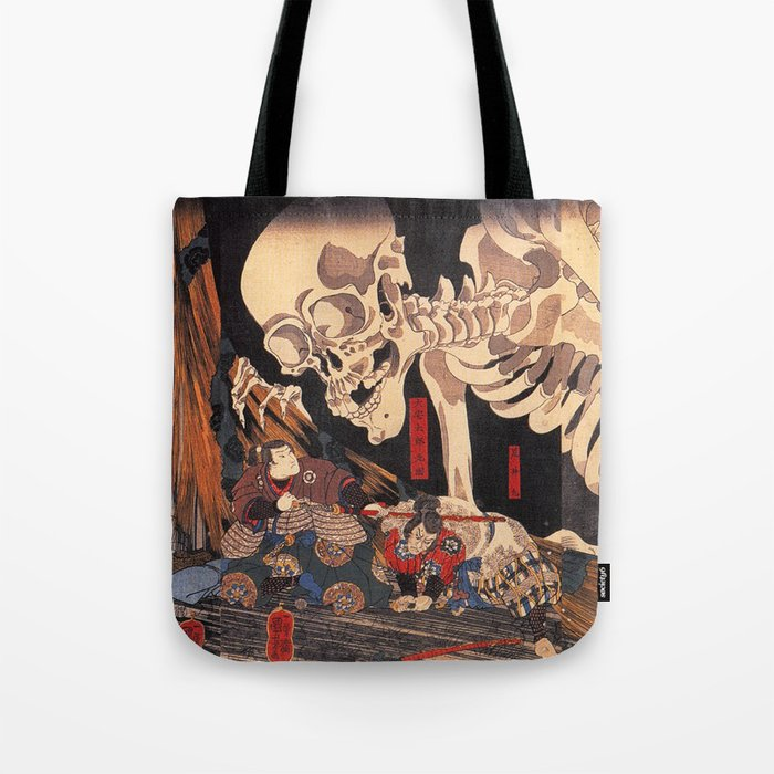 Takiyasha the Witch and the Skeleton Spectre, by Utagawa Kuniyoshi Umhängetasche