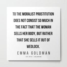 13      Emma Goldman Quotes   200602 Metal Print