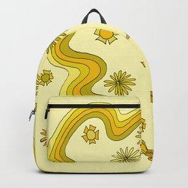 groovy skate hang 10 // tony alva style // surfy birdy art Backpack