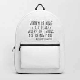 WOMEN BELONG IN ALL PLACES Backpack