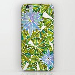 Water Lilies – Lavender & Green Palette iPhone Skin