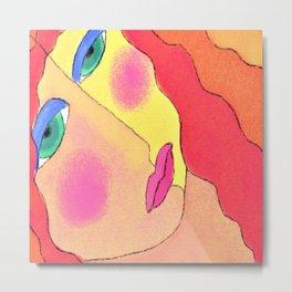 Dreaming of Far Away Abstract Digital Painting Metal Print