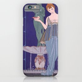 George Barbier The Shell Fountain 1914 iPhone Case