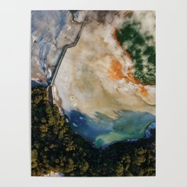 Champagne Pool II - Aerial Wall Art, Volcanic Print, Colorful Drone Photography, Aerial New Zealand Poster