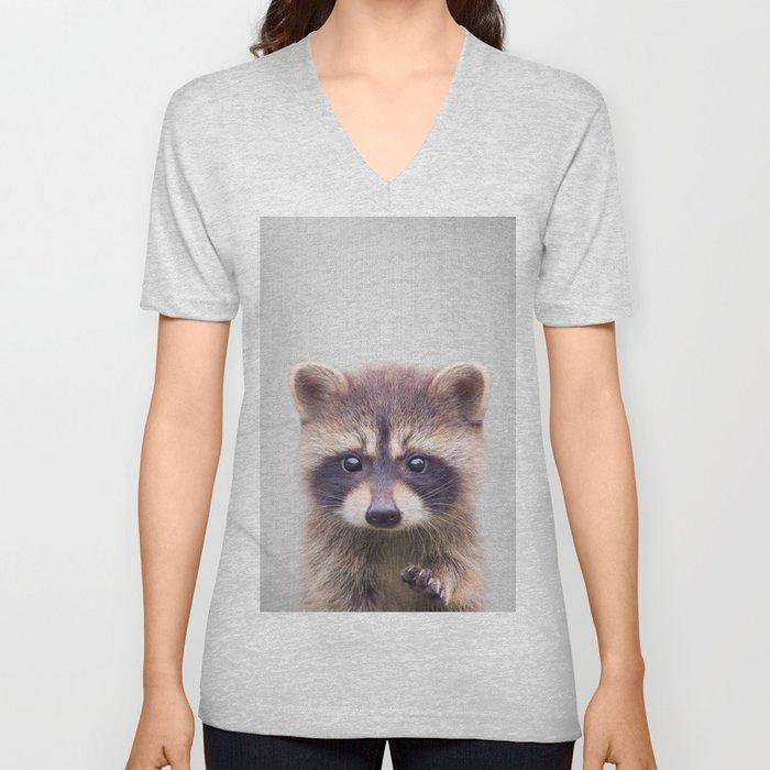 Raccoon - Colorful Unisex V-Ausschnitt