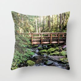 Wanderlust Beauty // Take Me to the Forest Where the Peaceful Waters Flow in the Dense Woods Throw Pillow