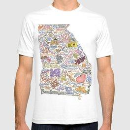 Georgia Music Map T-shirt
