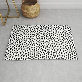 Dalmatian Spots (black/white) Rug