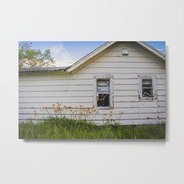 Farmhouse Lilies, North Dakota 2 Metal Print